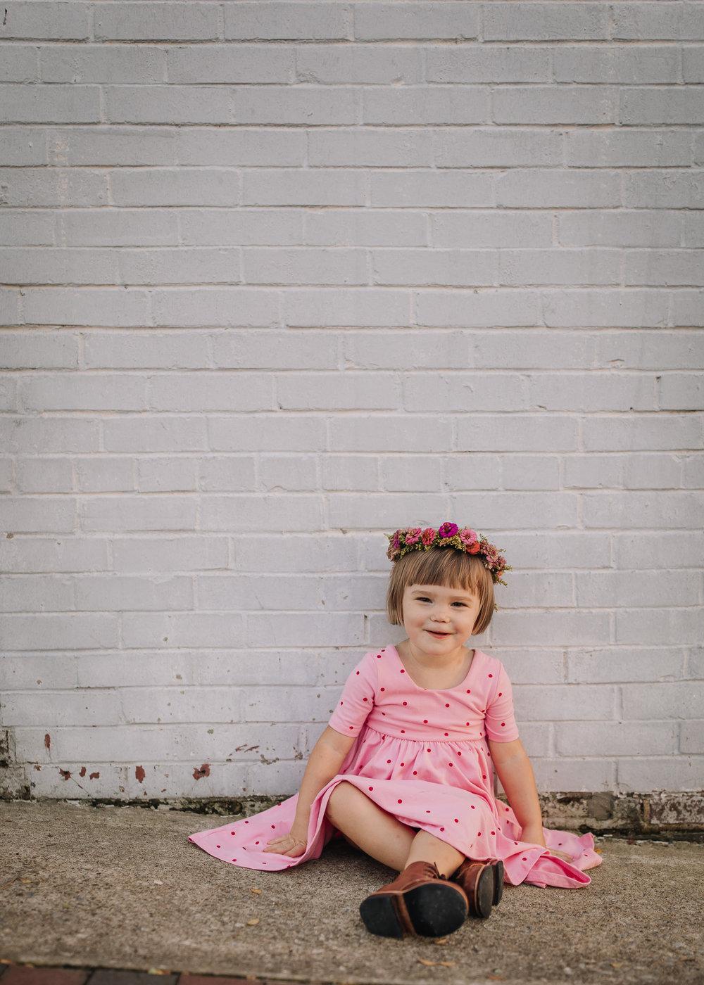 little girl birthday shoot