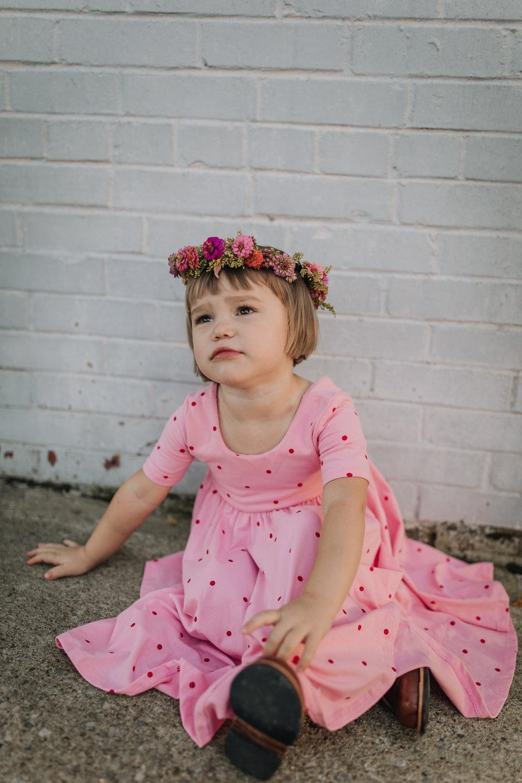 little girl in flower crown