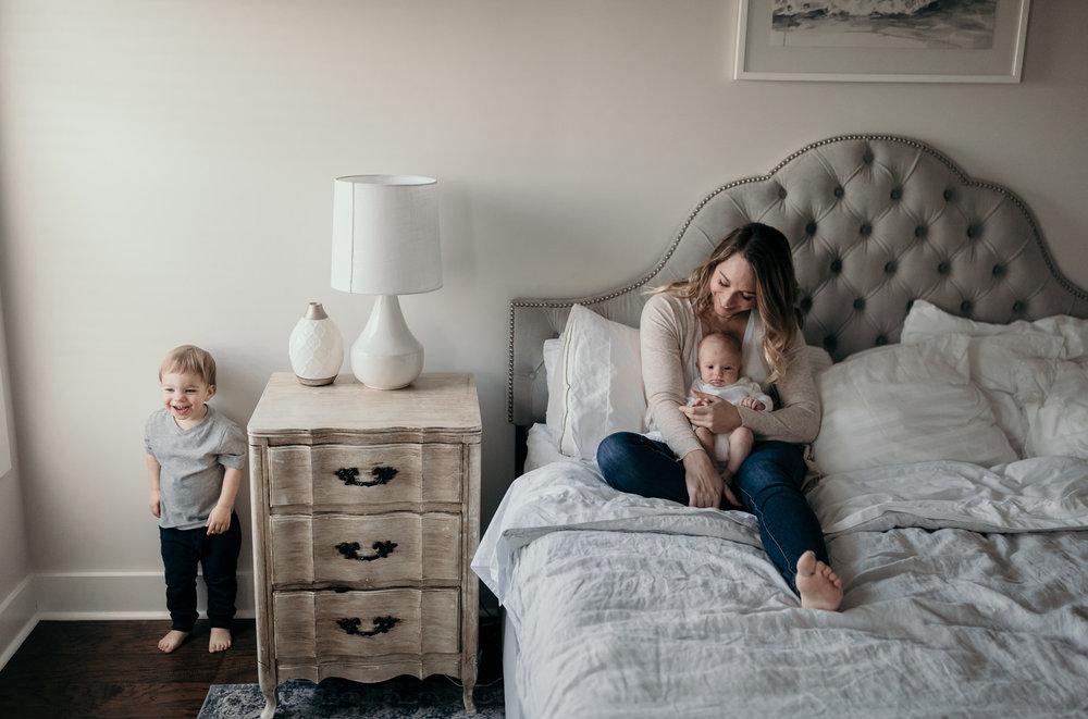 Family Photo in Bedroom