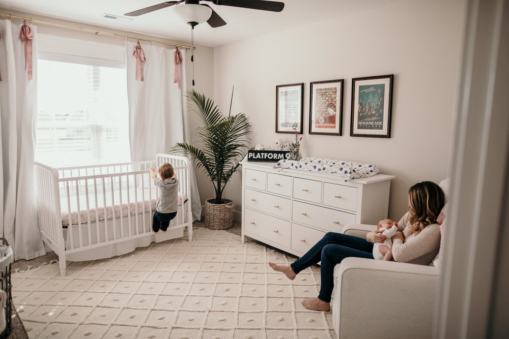 Nursery Photo of Mother and Baby