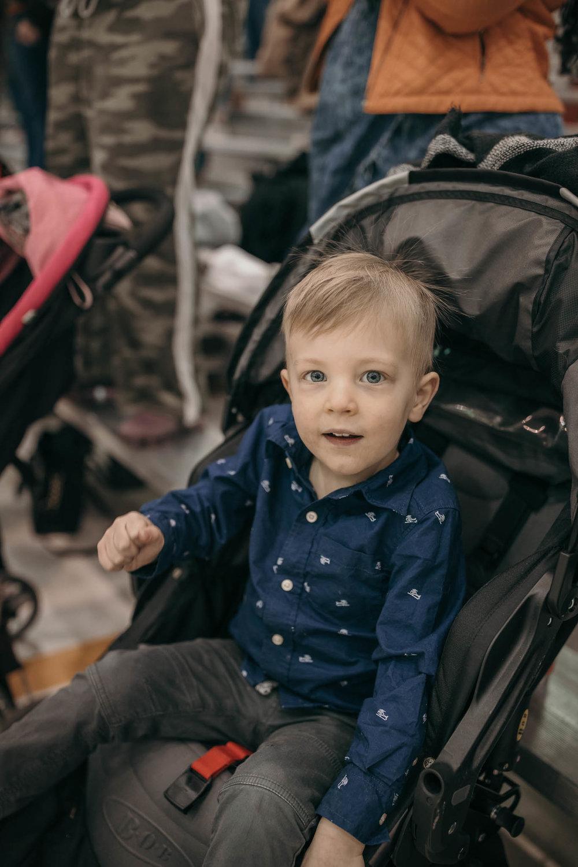 Childing Sitting in Stroller