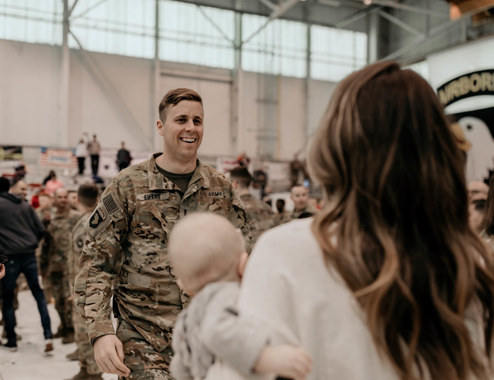 Soldier Sees Family Again for the First Time