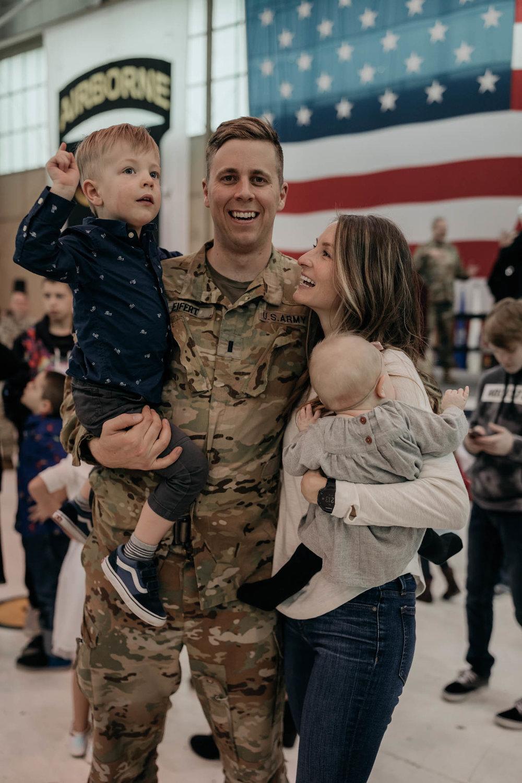 Military Homecoming Family Photo