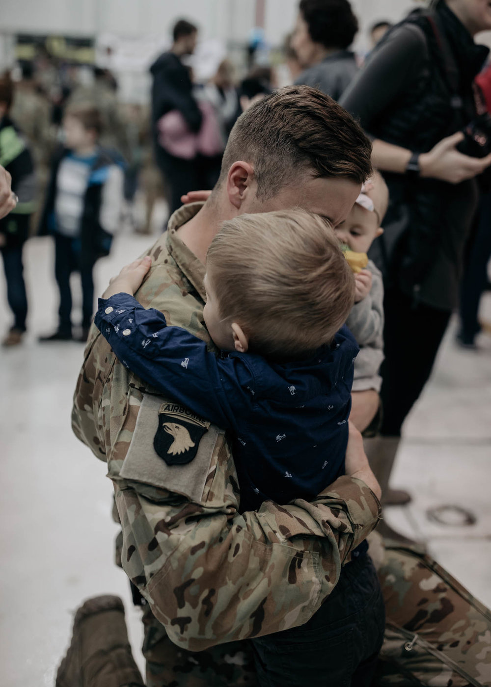 Father Embracing Son