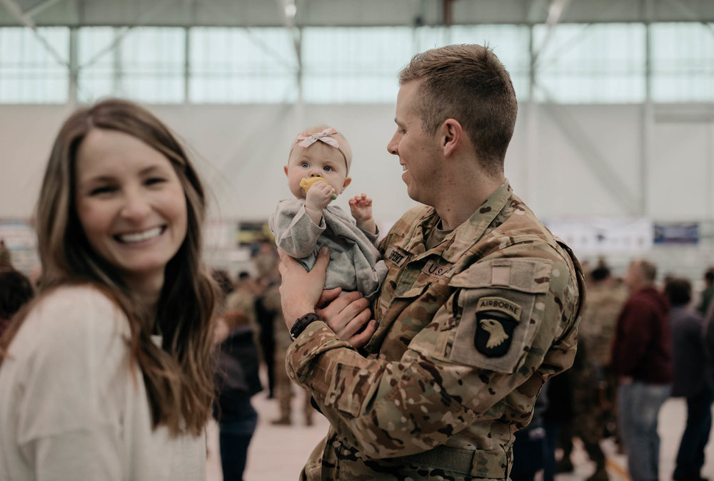 Candid Military Family Photo
