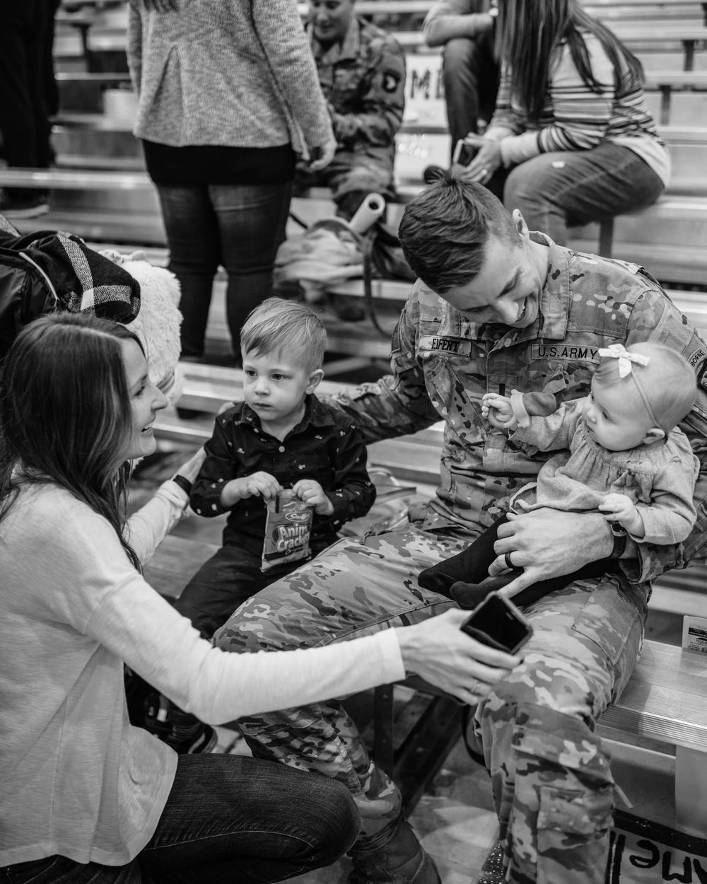 Black and White Military Family