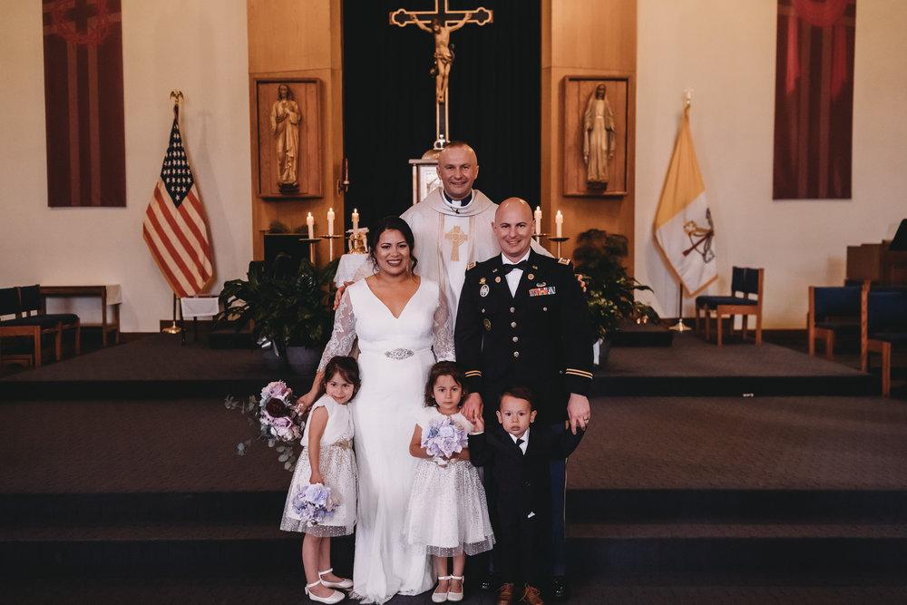 Military Wedding Photo in Church