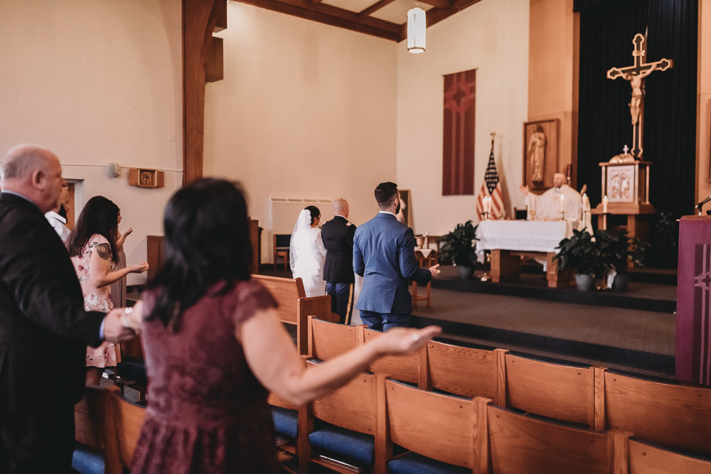 Fort Campbell Church During Military Wedding