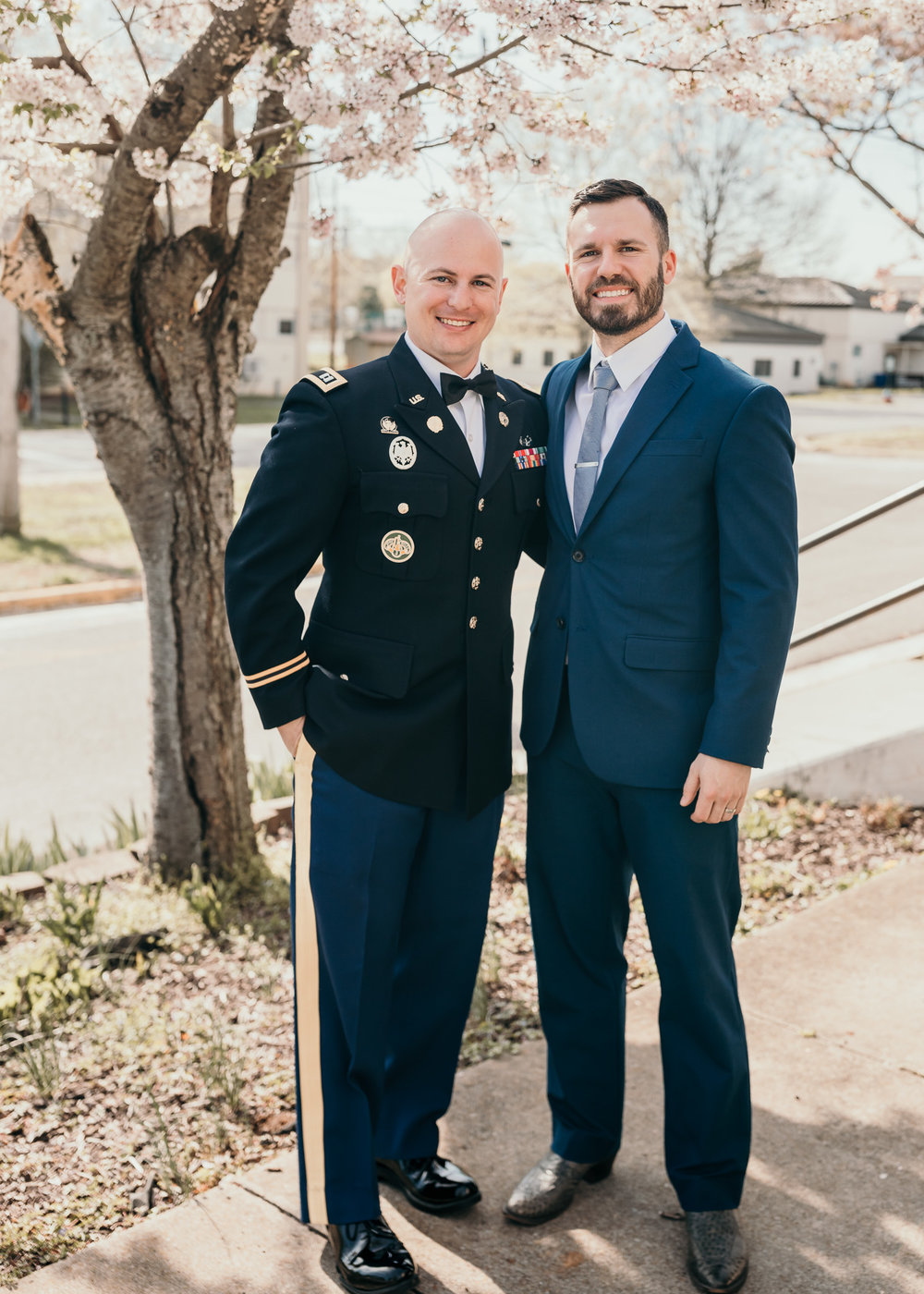 Groom and Best Man Standing