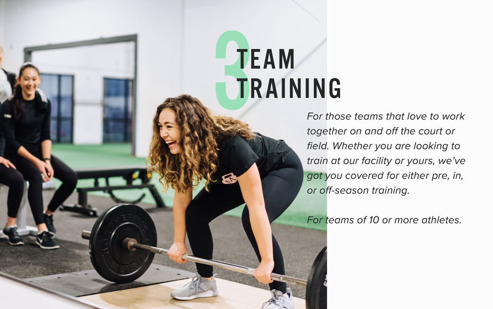 Team training options at Mint Club Athletics