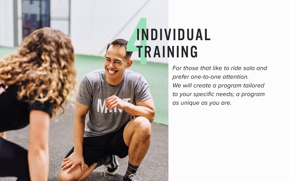 Get individual training and package options with Mint Club Athletics