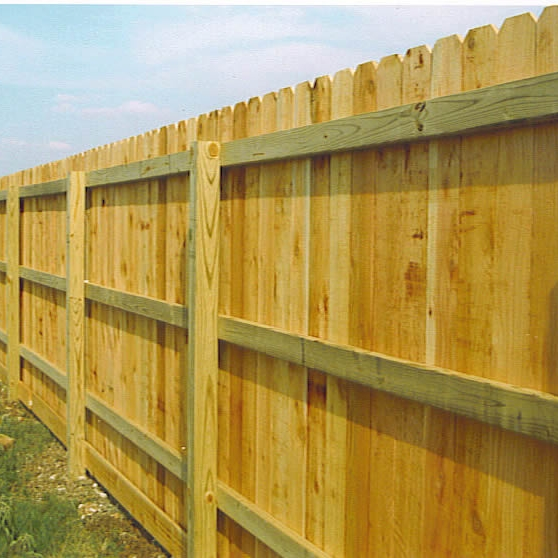 The inside of a fence has horizontal slats which, if facing outward, would make a perfect ladder for a thief!
