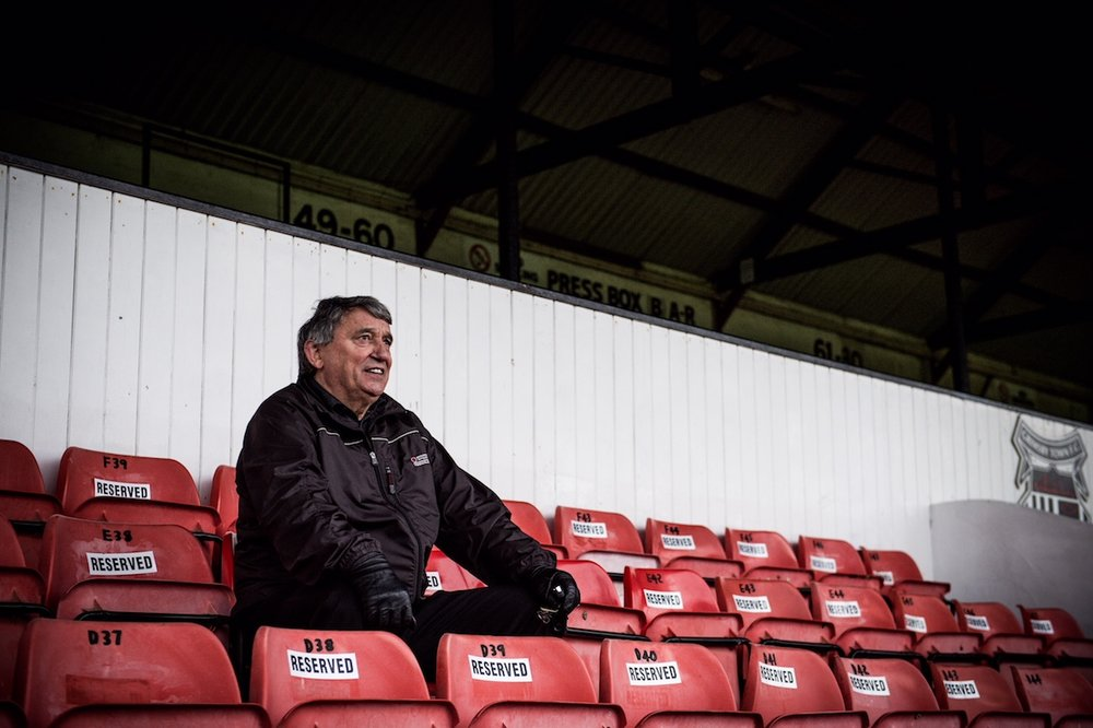 Graham Taylor at Blundell Park by Simon Gill.