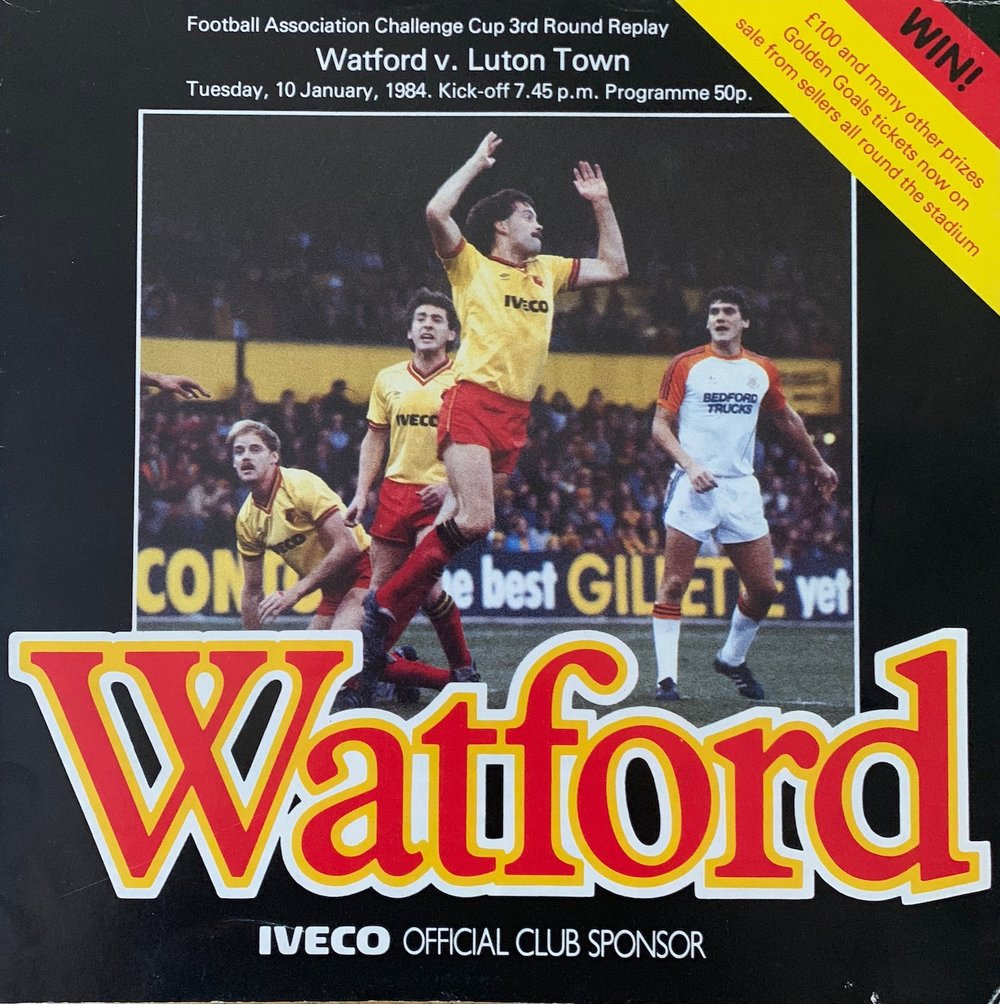 Third round replay: Watford 4 Luton Town 3