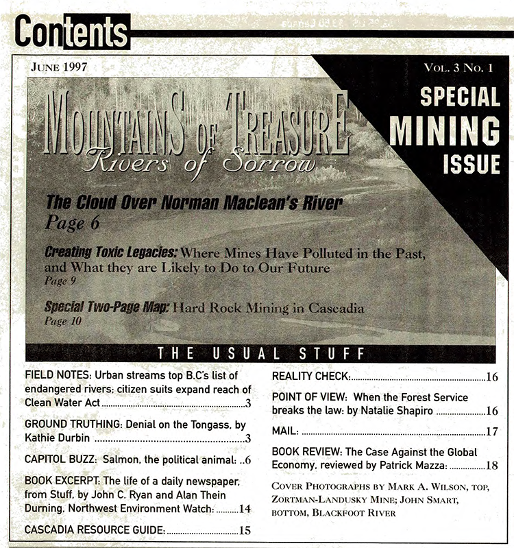 Special Two-Page Map: 18 Mines That Threaten Cascadia s