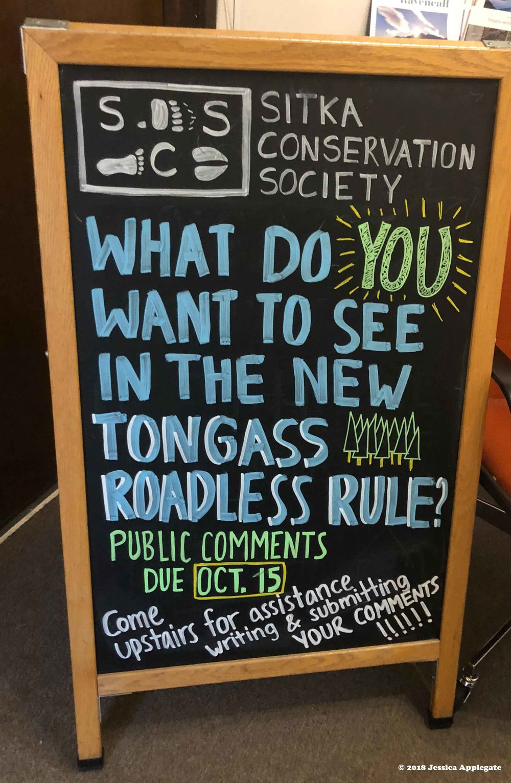 The  Sitka Conservation Society  encouraged people to comment on the Trump administration's proposal to rollback the roadless rule. About 33,000 people from around the country submitted comments.