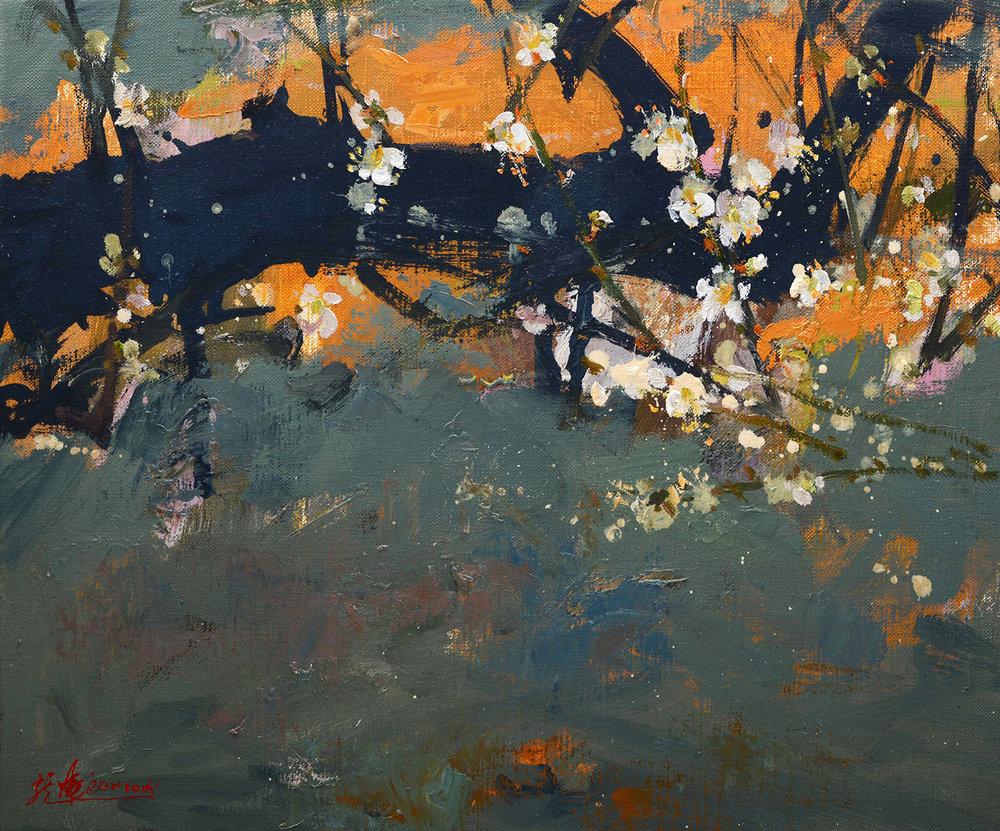 a5幾點梅花新 2016 oil on canvas 38x45.jpg