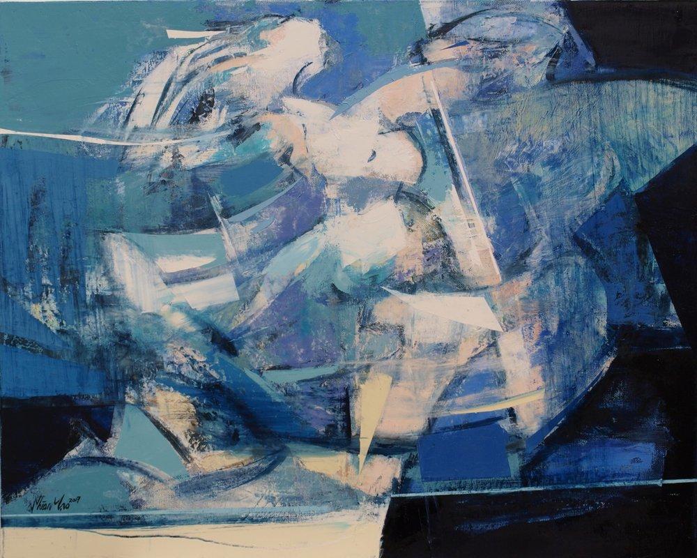 [Dancing Queen] 02, 2017  72cm x 91cm  Oil on Canvas