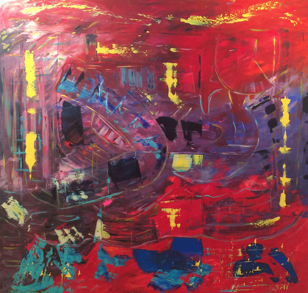 Kelly Fischer, [Soho NYC], 2015, 72inch x 72inch, Acrylic on Canvas.jpg