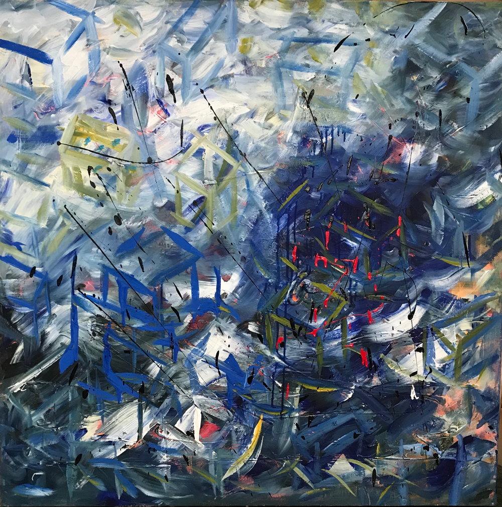Kelly Fischer, [Dusk], 2017, 100cm x 100cm, Acrylic on Canvas.jpg
