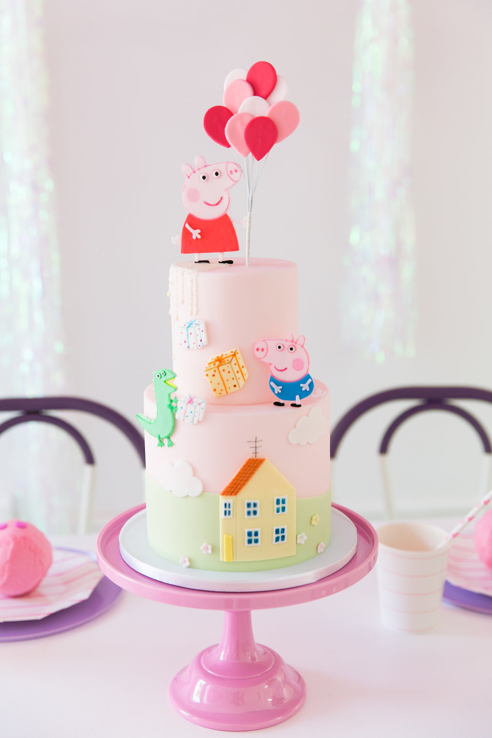 Oui Party - Peppa Pig Party - Peppa Pig Cake 2.jpg