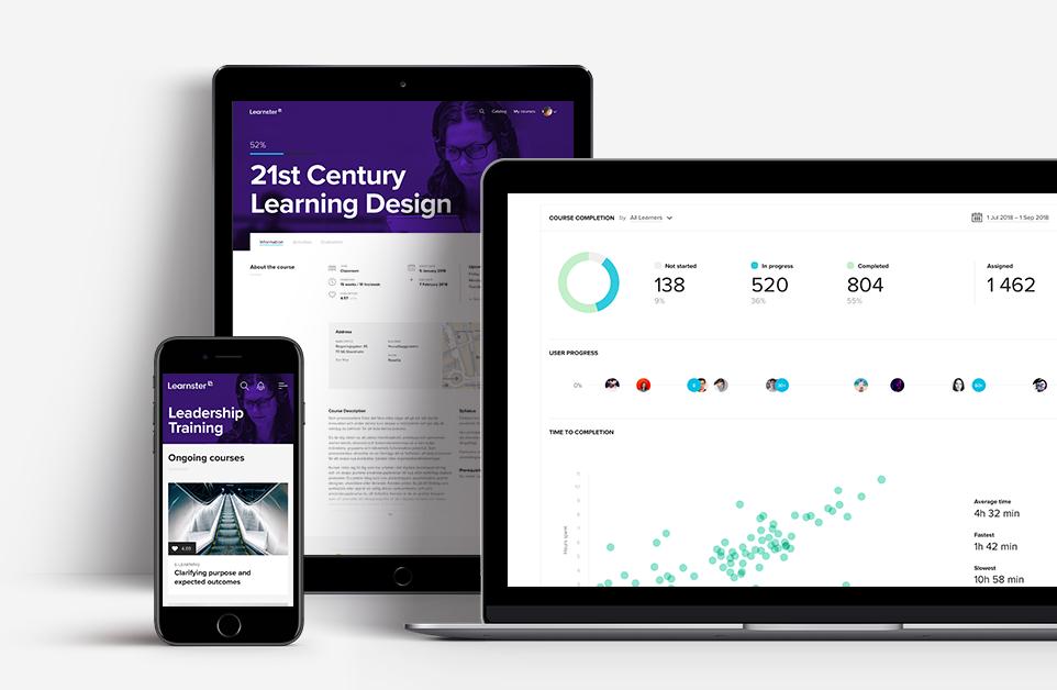Trött på tröga processer och ålderdomliga LMS? - Nu kan du som utbildar göra allt i en och samma användarvänliga plattform - designa pedagogiska utbildningar, genomföra dem med hjälp av varierande lärmiljöer och följa upp på dina kursdeltagares framsteg.