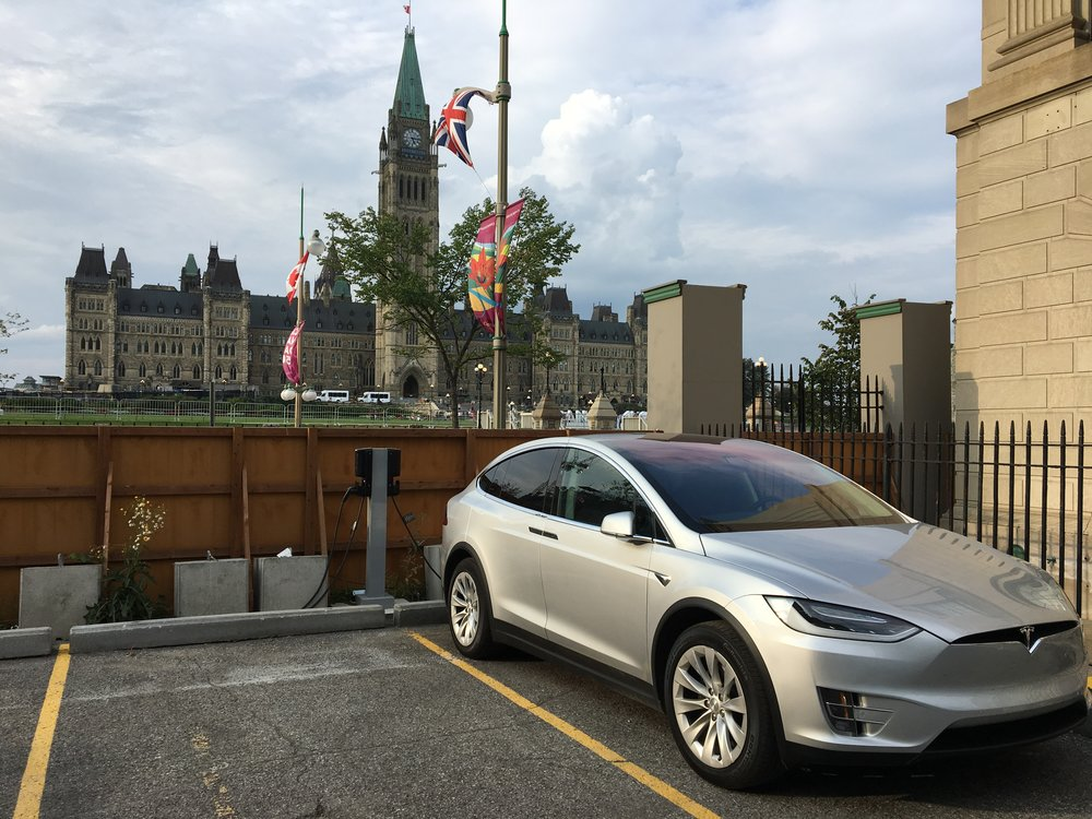 Electric vehicle charging stations installed near Parliament Hill by ChargeLab
