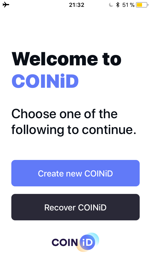 The COINiD Vault lets you protect your funds in an offline environment.