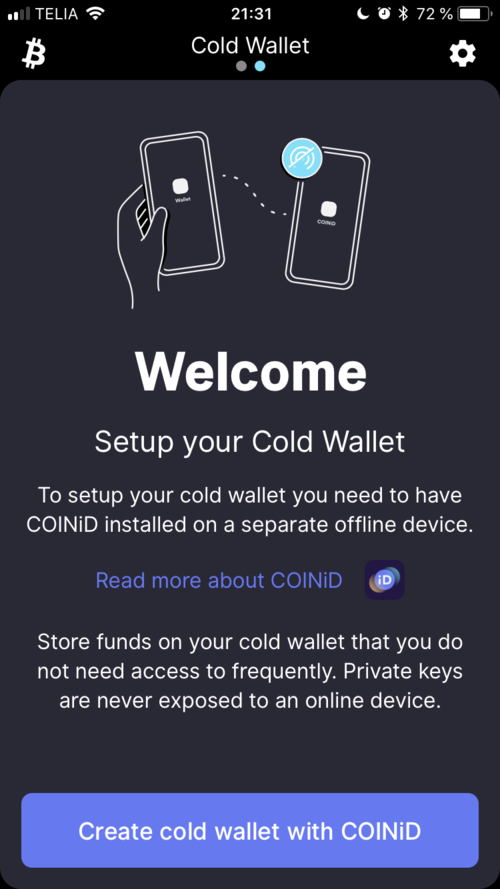 Follow the steps to successfully set up your cold wallet.