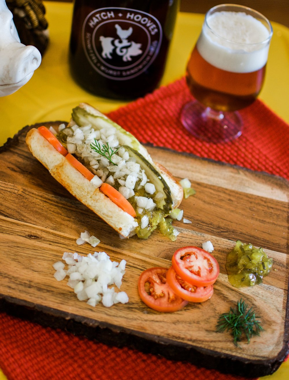 HAUS WURST SANDWICHES - Sandwiches served on Kings Hawaiian Rolls.