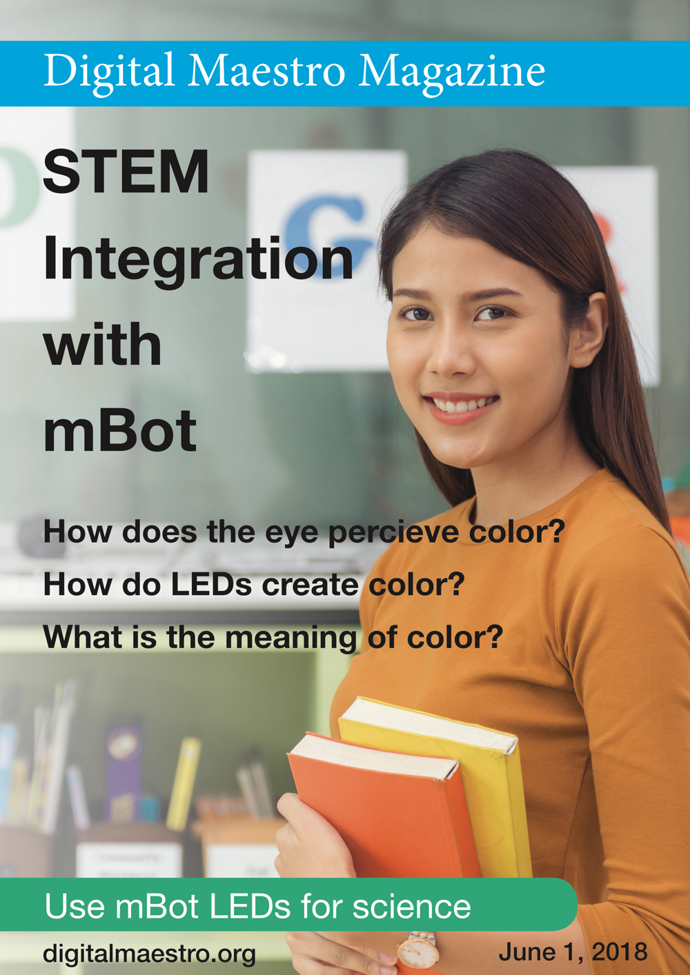 STEM Integration with mBot - Use light to teach how the eye works. The eye collects light from three colors. Understand how LEDs use these colors to create all the colors we see.Download a free sample