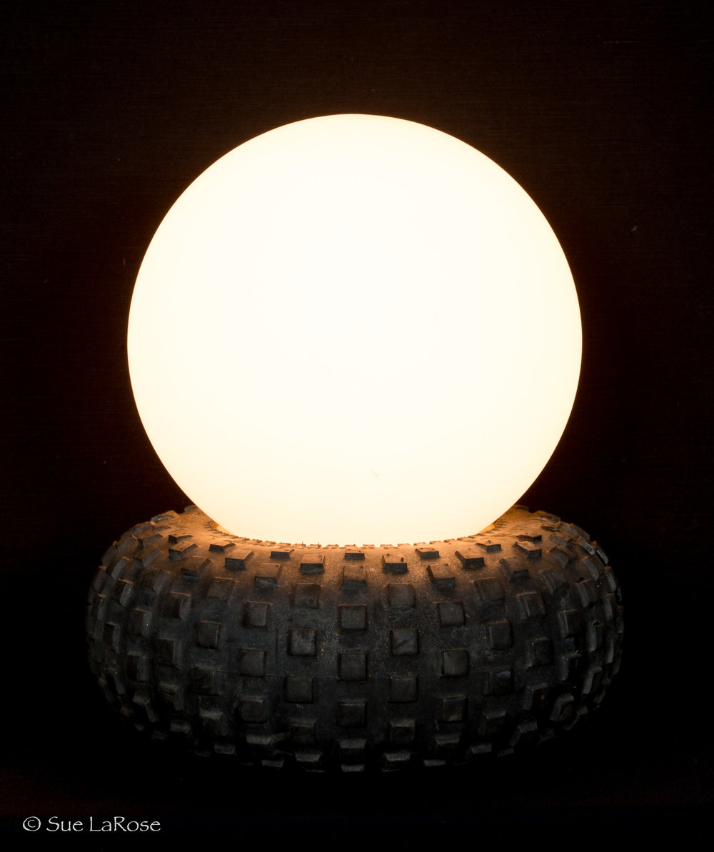 WHEEL OF LIGHT, reclaimed material by Paul Filicetti -