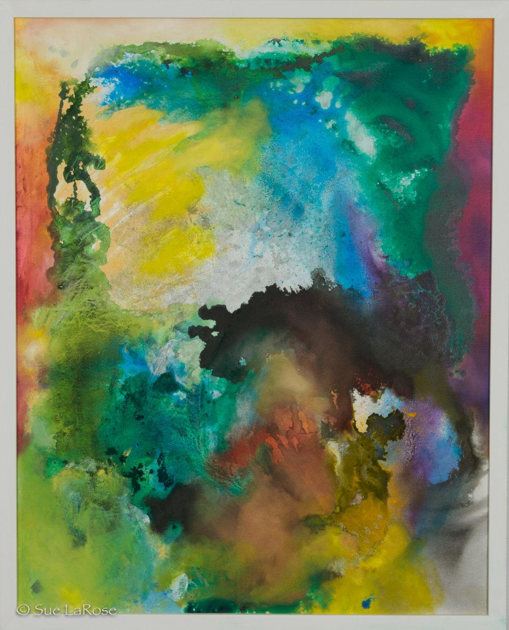 THE STARS BEGAN TO BURN, 25x31, mixed mediaby Heather Schwartz -