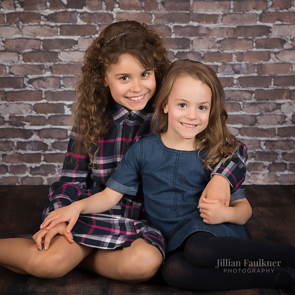 Family photographer Jillian Faulkner offers customized studio sessions for her clients,