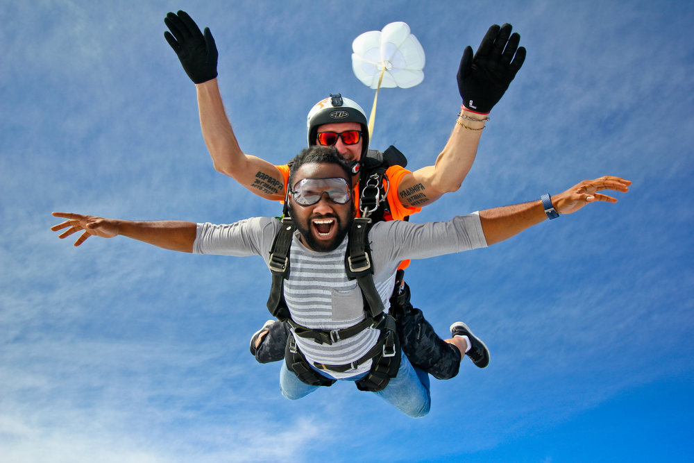 Experience a tandem skydive