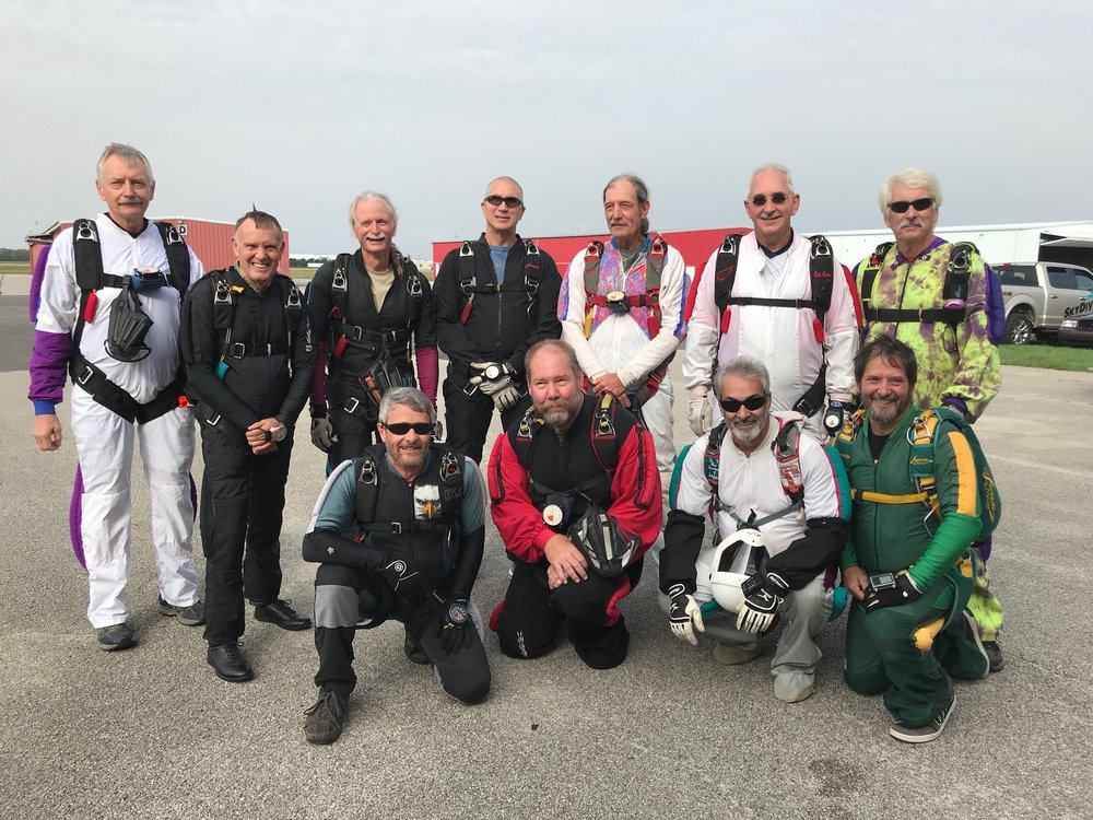 Record-setting Skydivers over Sixty