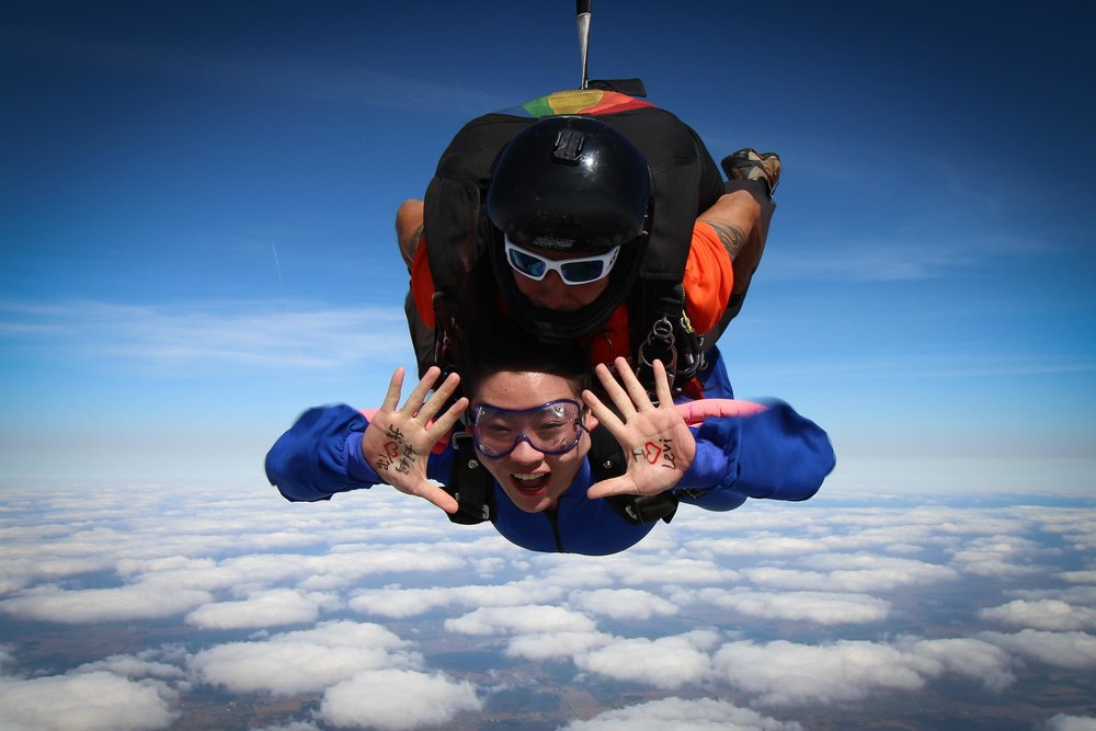 Show your skydive videographer a message