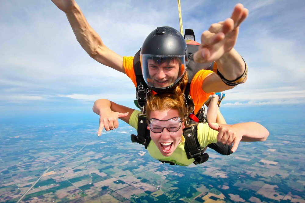 #6 Buy a gift certificate. Our tandem skydive gift certificates are $20 less than our weekend rates and you can use them weekdays or weekends. We also offer some pretty amazing specials during the holidays. -