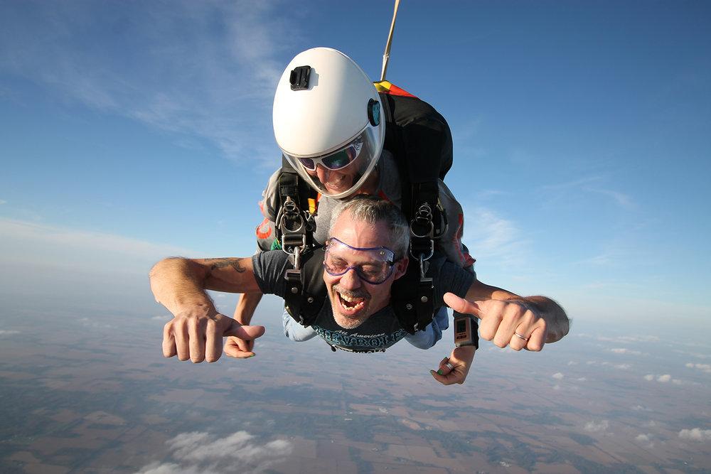 Tandem skydive joy