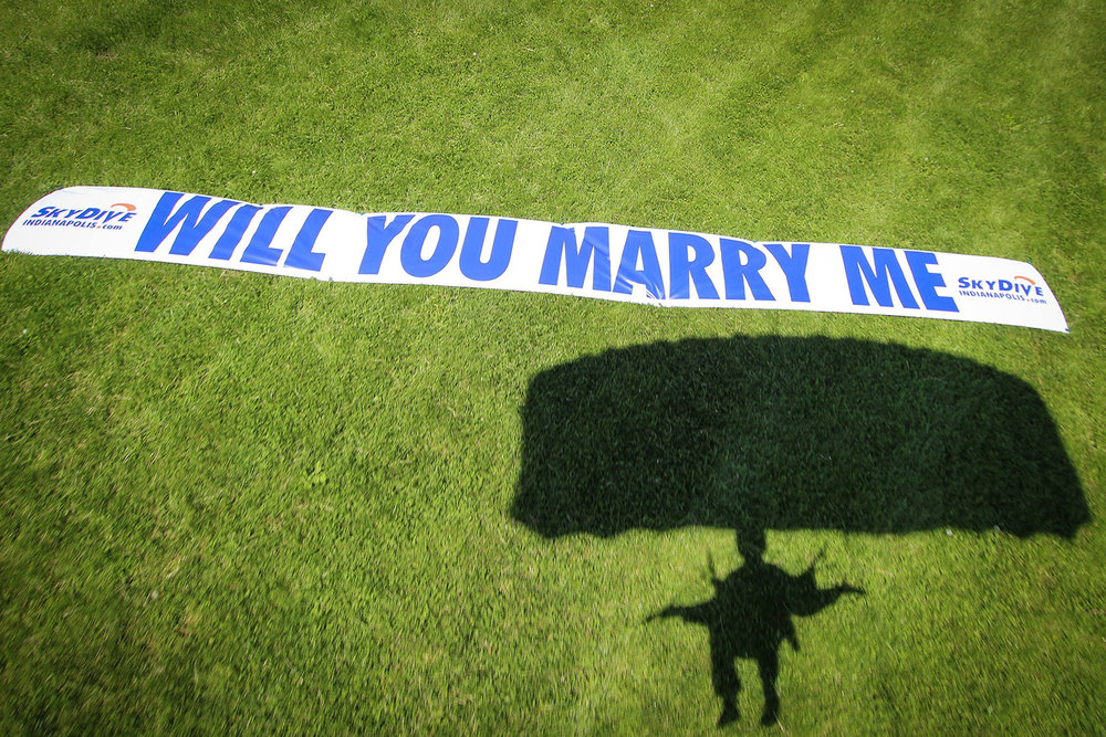 skydive proposal banner