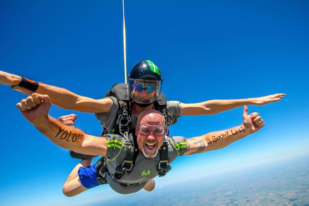 YOLO, Skydive