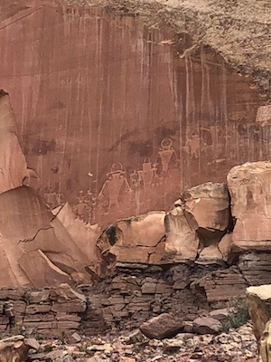 Capital Reef National Park petroglyph rock art by southwest American ancient peoples, photo by Nicholas Emery, 2019