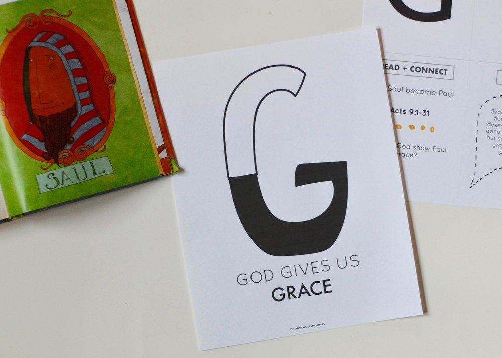 Letter G: grace