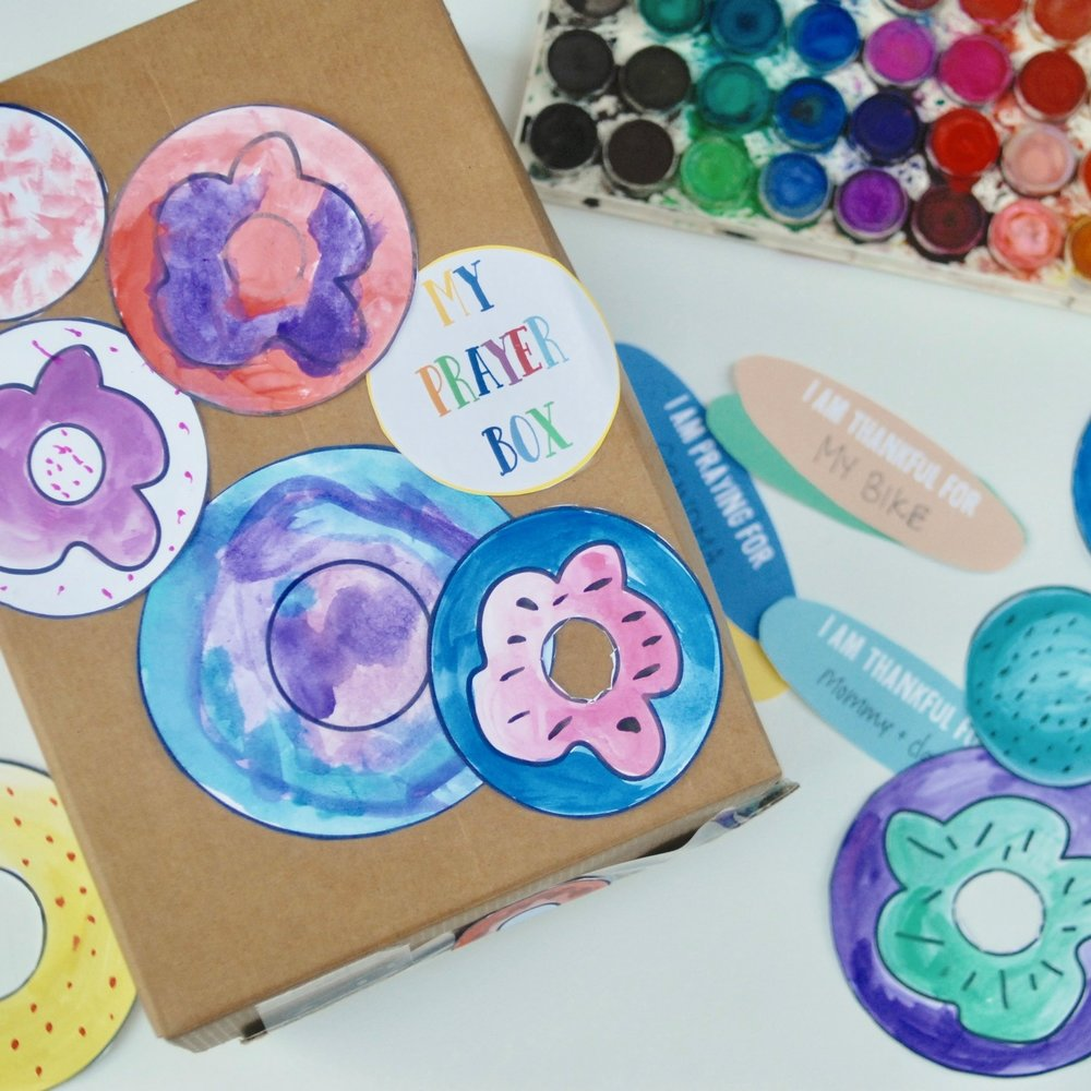 donut prayer box - Make a prayer box with donuts and sprinkles (based on Philippians 4:6)
