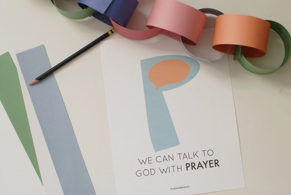 Letter P Color and Kindness