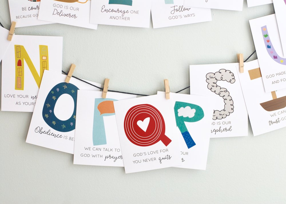 Color and Kindness Alphabet cards