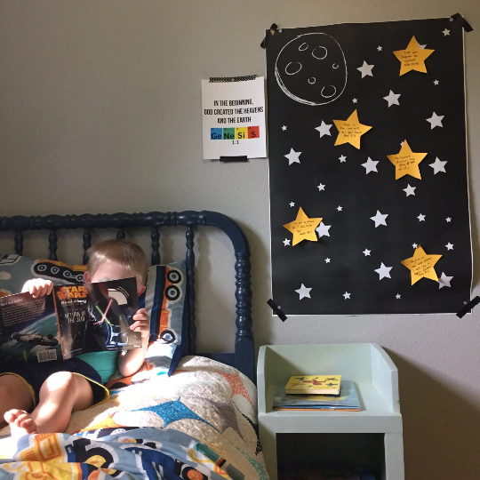 OUTER SPACE activity kit - Fill up your sky with scripture!