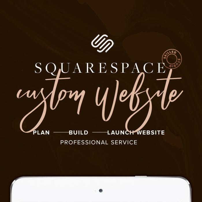 custom squarespace website design blog portfolio responsive website template