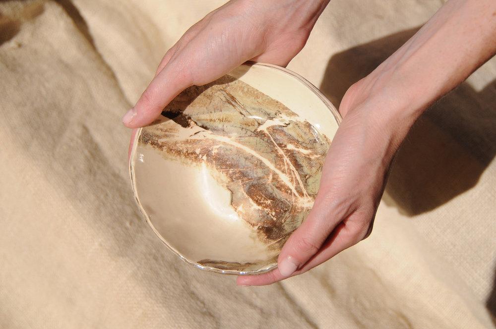 marble altar bowl