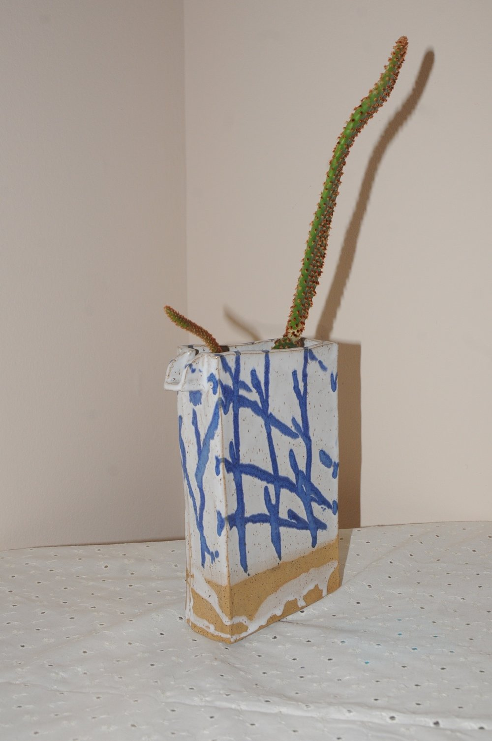 building block vase